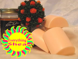 orange blossom & honey glycerin shea butter soap at Everything Shea Aromatic Creations