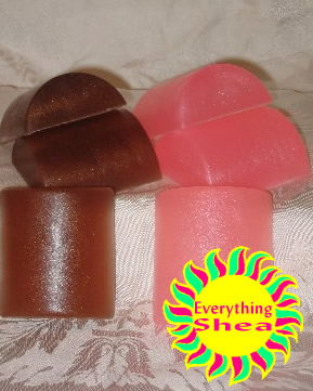 pink water lily sandalwood vanilla glycerin shea butter soap at Everything Shea Aromatic Creations