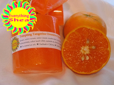 tempting tangerine overdrive glycerin shea butter soap at Everything Shea Aromatic Creations