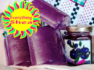 very berry huckleberry glycerin soap at everything shea aromatic creations